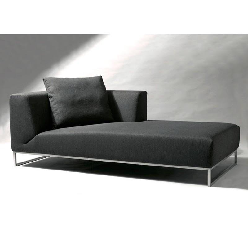 Chaise Longue De Salon Cuir Ou Tissu Noire