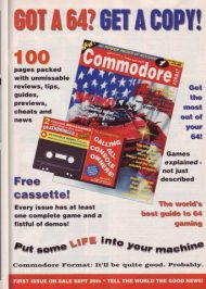"""An advert for issue 1 of Commodore Format, featuring a mock-up cover. This appeared in Amstrad Action 61, but it was carried in New Computer Express and other Future titles. """"Games explained, not described"""" was a key point of difference for CF, said editor Steve Jarratt. Issue 1 arrived on Thursday September 20th, 1990."""