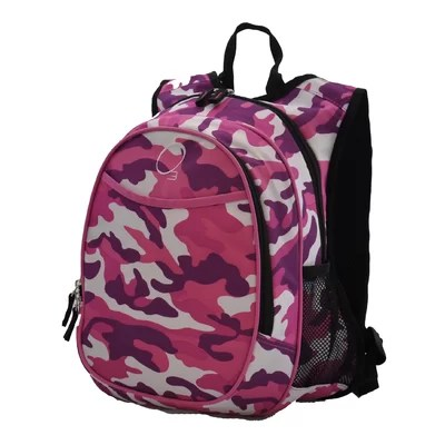 Kids Pink Camo Backpack