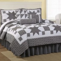 American Traditions Black Country Star King Quilt Set ...