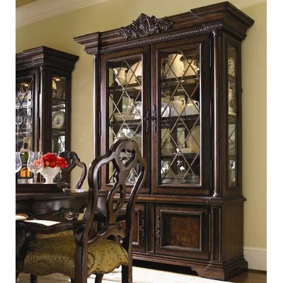 Lexington Brentwood China Cabinet In Rich Russet Brown (LTN1650)