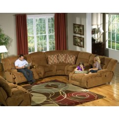 Justin Ii Fabric Reclining Sectional Sofa Small 2 Seater And Armchair Sectionals Recliners Ideas Home Designs Catnapper Enterprise
