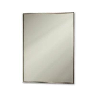 NuTone 178P30CH Chrome Theft Proof Framed Mirror 178P30