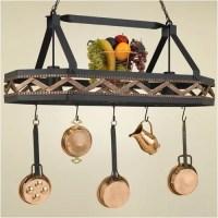 Hi-Lite Sonoma 8 Sided Hanging Pot Rack with 2 Lights | eBay