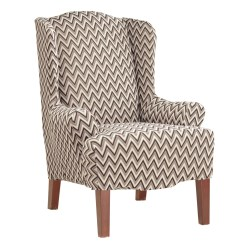 Wingback Chair Slipcover Pattern Office Toronto Sure Fit Stretch Chevron Wing Ebay