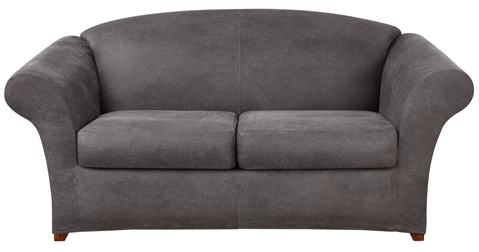 faux leather gripper chair cushions library ladder sure fit ultimate stretch sofa slipcover ebay