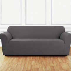 Sure Fit Durham One Piece Sofa Slipcover Movie Stretch Delicate Leaf Ebay