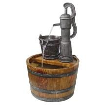 Outdoor Barrel Water Fountain Pump