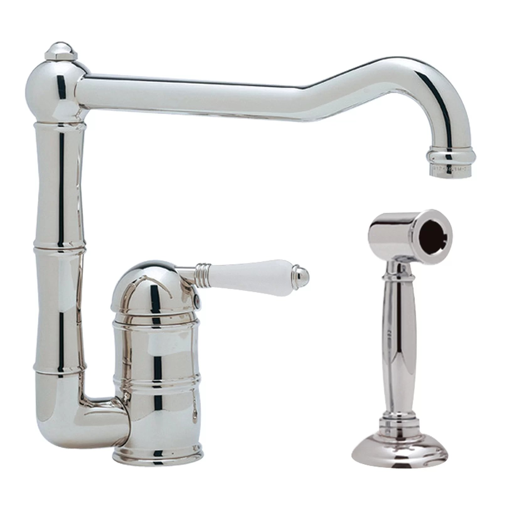 single lever kitchen faucet sink with sprayer rohl country handle ebay