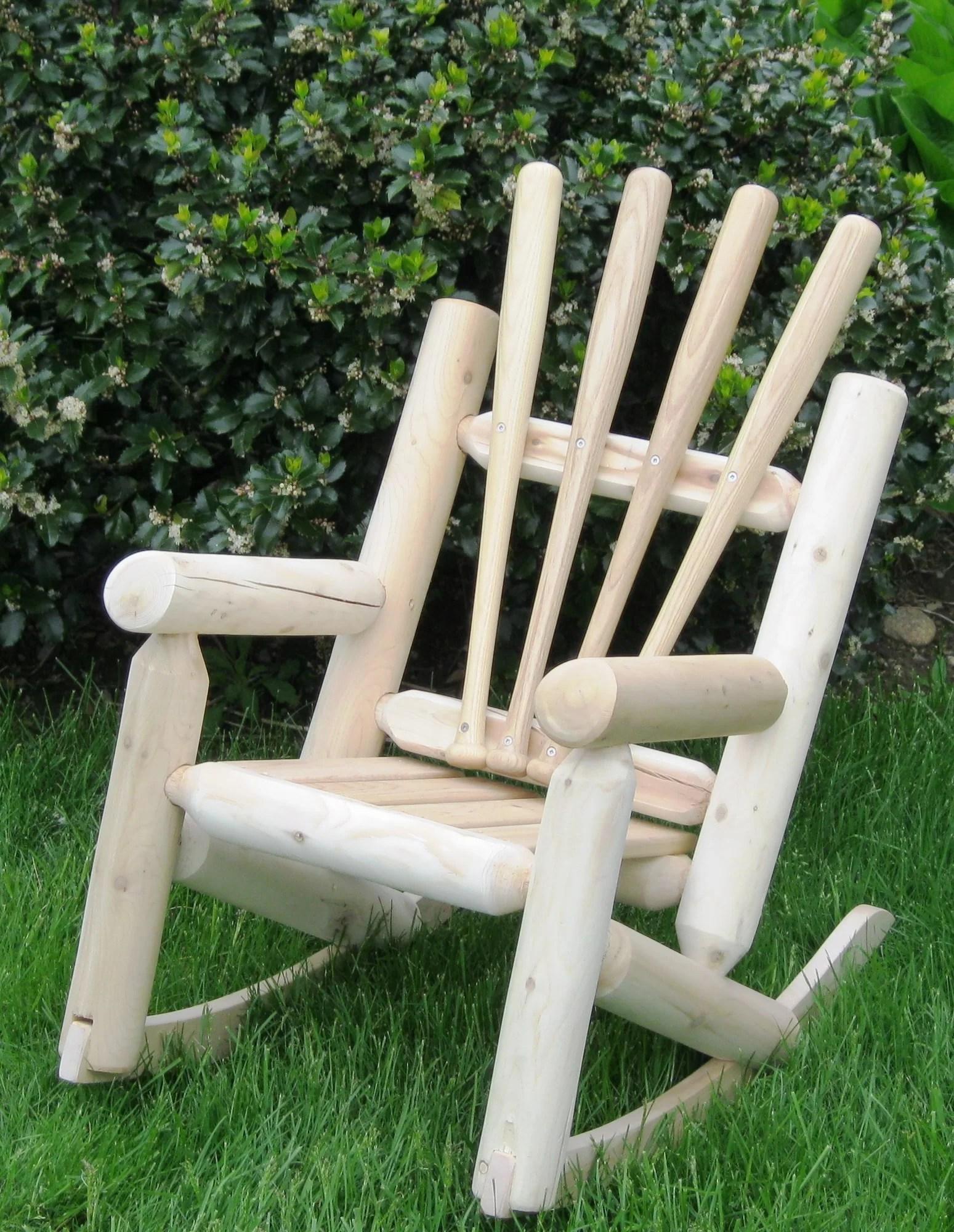 log style adirondack chairs handmade wooden ski chair children 39s base ball ebay