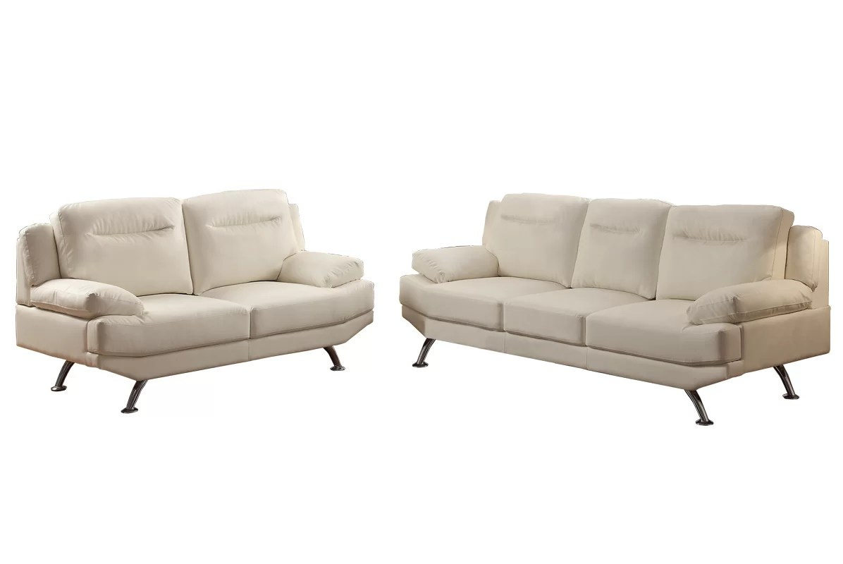 bobkona sofa set tufted leather bed poundex danville 2 piece and loveseat