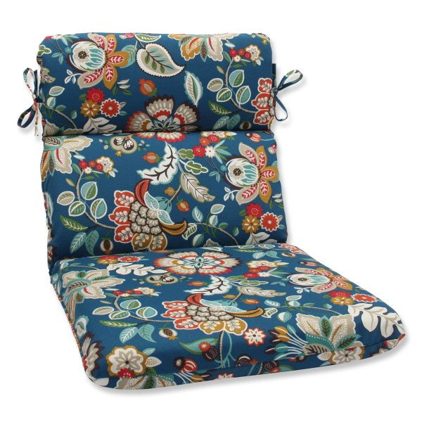 Pillow Perfect Telfair Peacock Outdoor Chaise Lounge Cushion Pwp4177