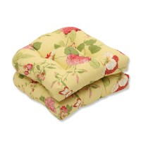 Pillow Perfect Risa Outdoor Seat Cushion PWP1962 Set of 2