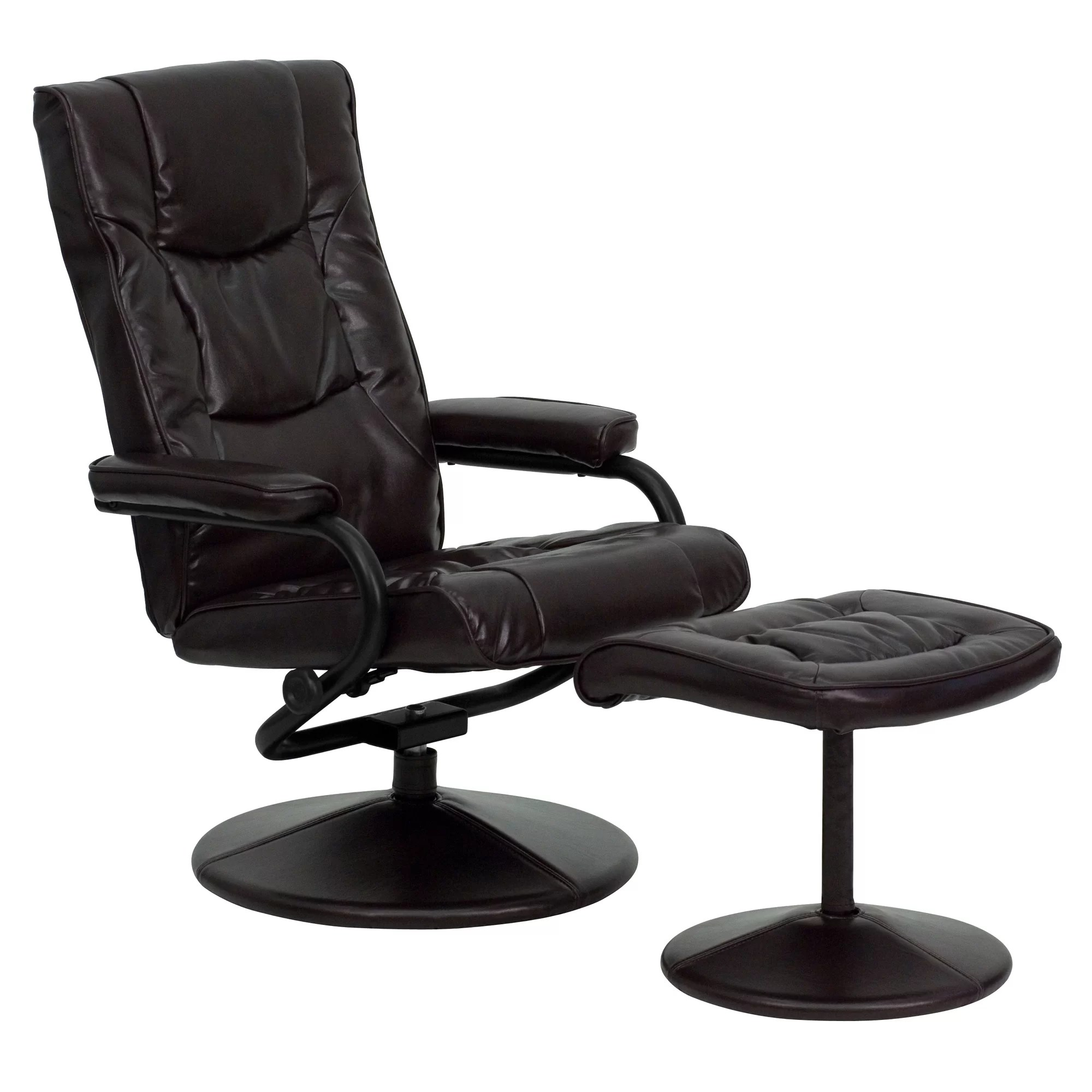 modern black leather recliner chair floor protector flash furniture contemporary soft reclining office