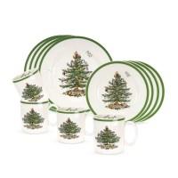 Spode Christmas Tree 12 Piece Dinnerware Set   eBay