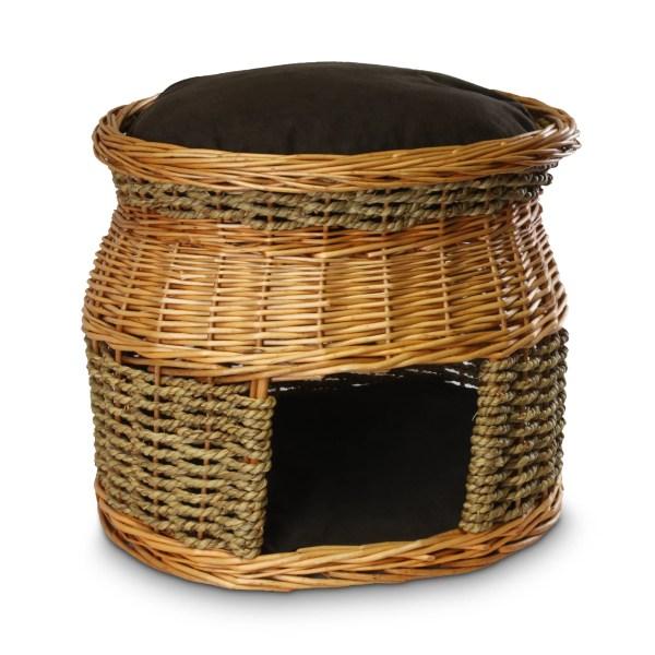 Wicker Cat Basket Bed