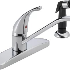 Kitchen Faucet With Side Sprayer Decor Cheap Peerless Faucets Single Handle Centerset