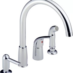 Moen Kitchen Soap Dispenser Modern White Cabinets Peerless Faucets Single Handle Deck Mounted Faucet