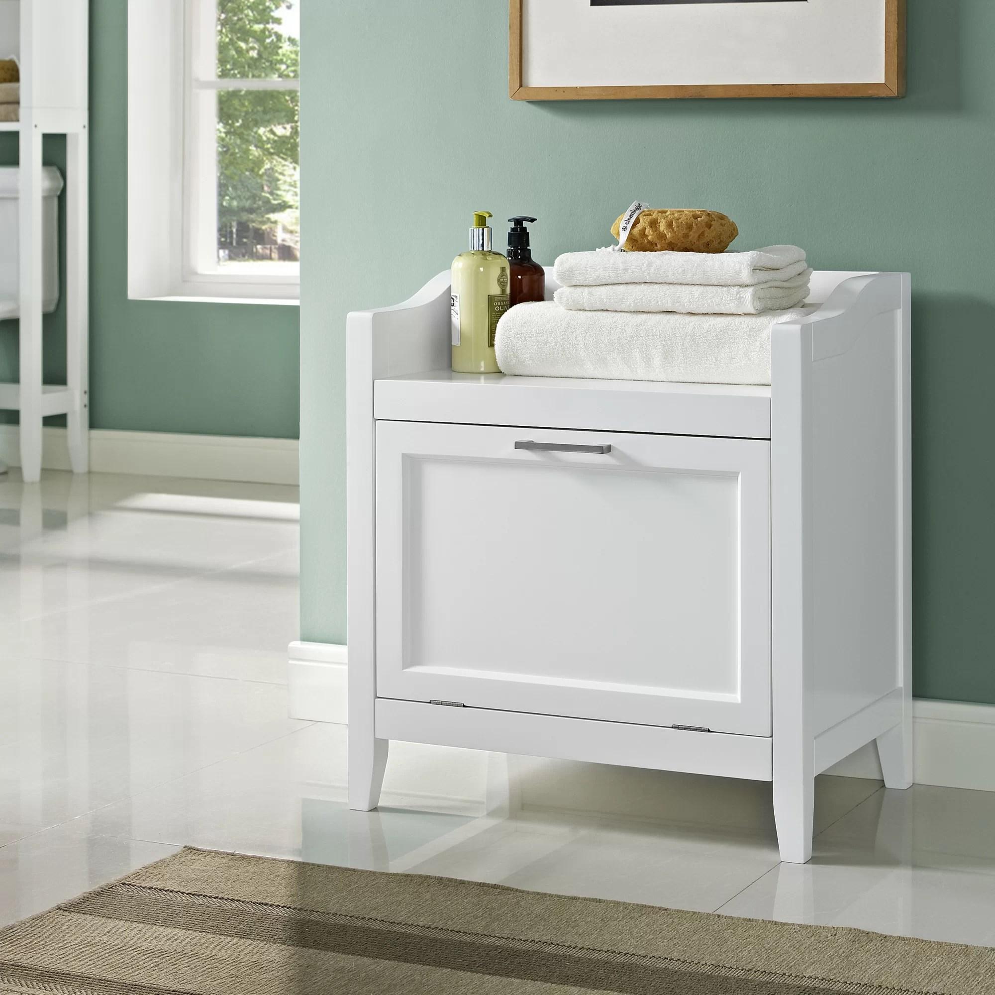 Simpli Home Avington Storage Cabinet Laundry Hamper  eBay