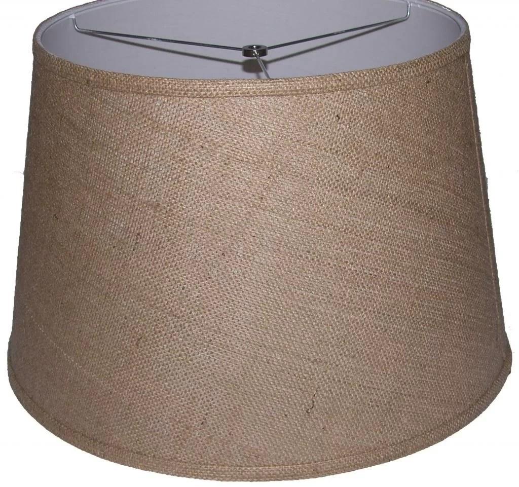 """Lamp Factory 18"""" Burlap Drum Lamp Shade"""