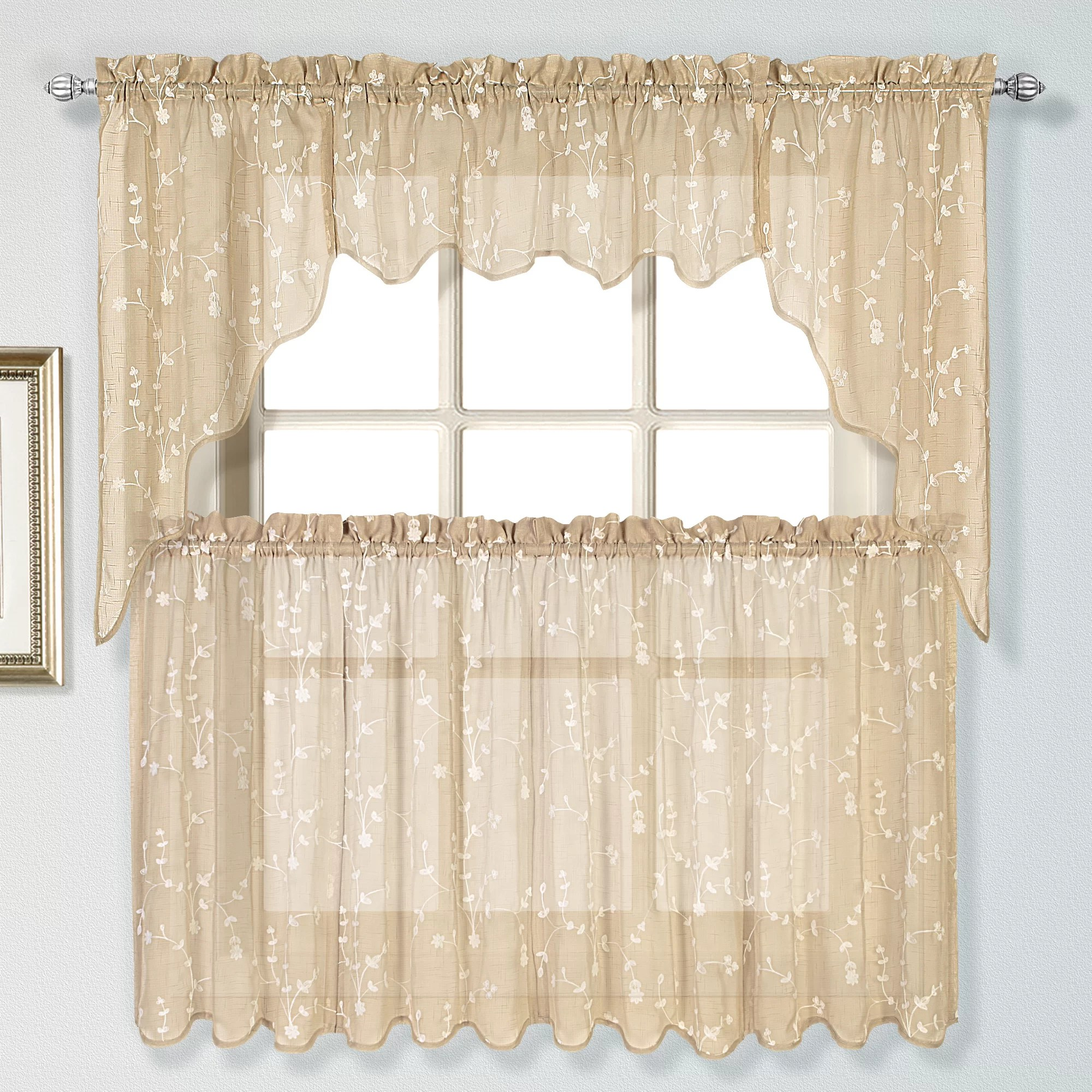 United Curtain Co Savannah Tier Curtain