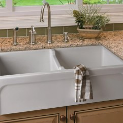 Farmhouse Kitchen Sinks Chrome Chairs 39 Quot Arched Apron Thick Wall Fireclay Double Bowl
