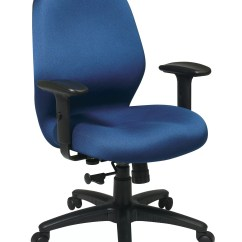 Ergonomic Chair For Work Computer Mats Office Star Products Smart Mid Back Desk Ebay