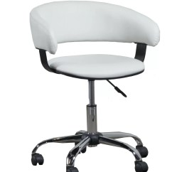 Office Chair Locking Wheels Wing Covers Clearance Powell Furniture Low Back With Caster White