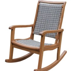 Patio Furniture Rocking Chair Lazy Boy Big And Tall Office Instructions Outdoor Interiors Resin Wicker Eucalyptus Rocker