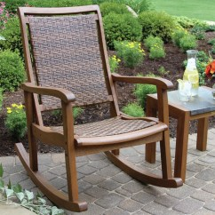 Black Wicker Rocking Chair Outdoor Single Bed Interiors Resin And Eucalyptus Rocker