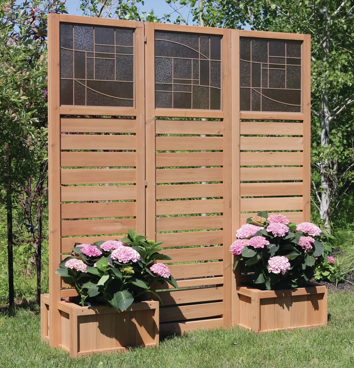 Yardistry Langdon Privacy Screen With Planters Ebay