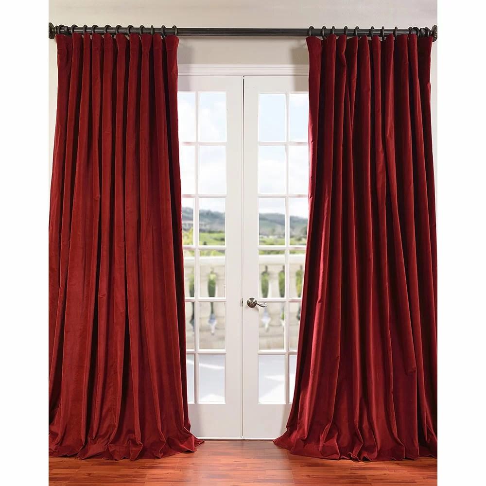 Half Price Drapes Doublewide Vintage Velvet Curtain Panel