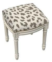 123 Creations Animal Print Cheetah Linen Upholstered ...