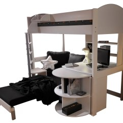 Loft Bed With Desk And Futon Chair Captain Chairs Suv Stompa Casa Single High Sleeper Bunk Sofa