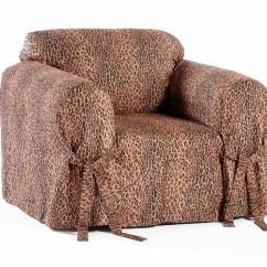 Deer Print Sofa Covers Hancock Classic Slipcovers Leopard Armchair Slipcover Ebay