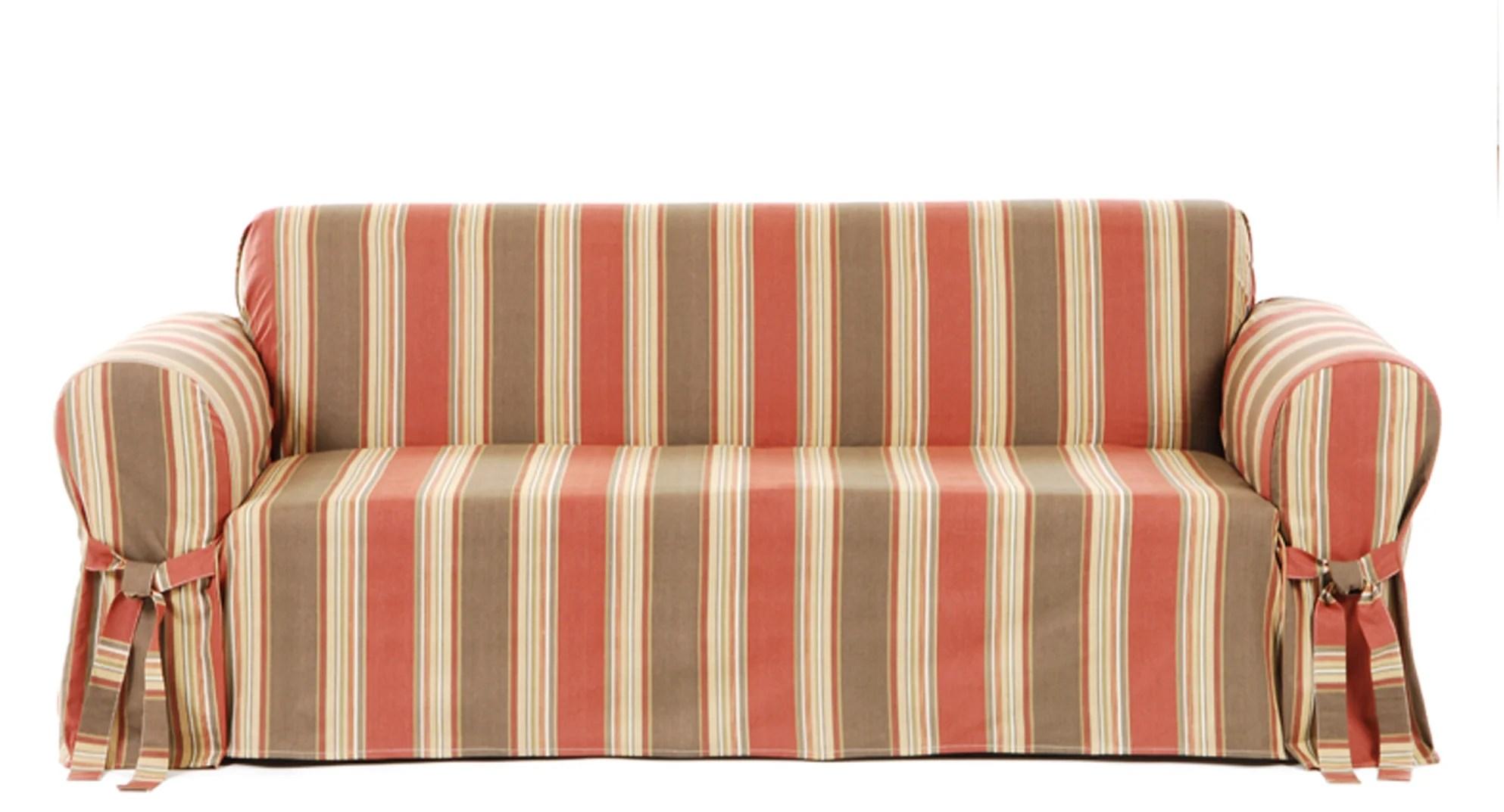 sofa slipcover pattern marshmallow kids classic slipcovers stripe duck ebay