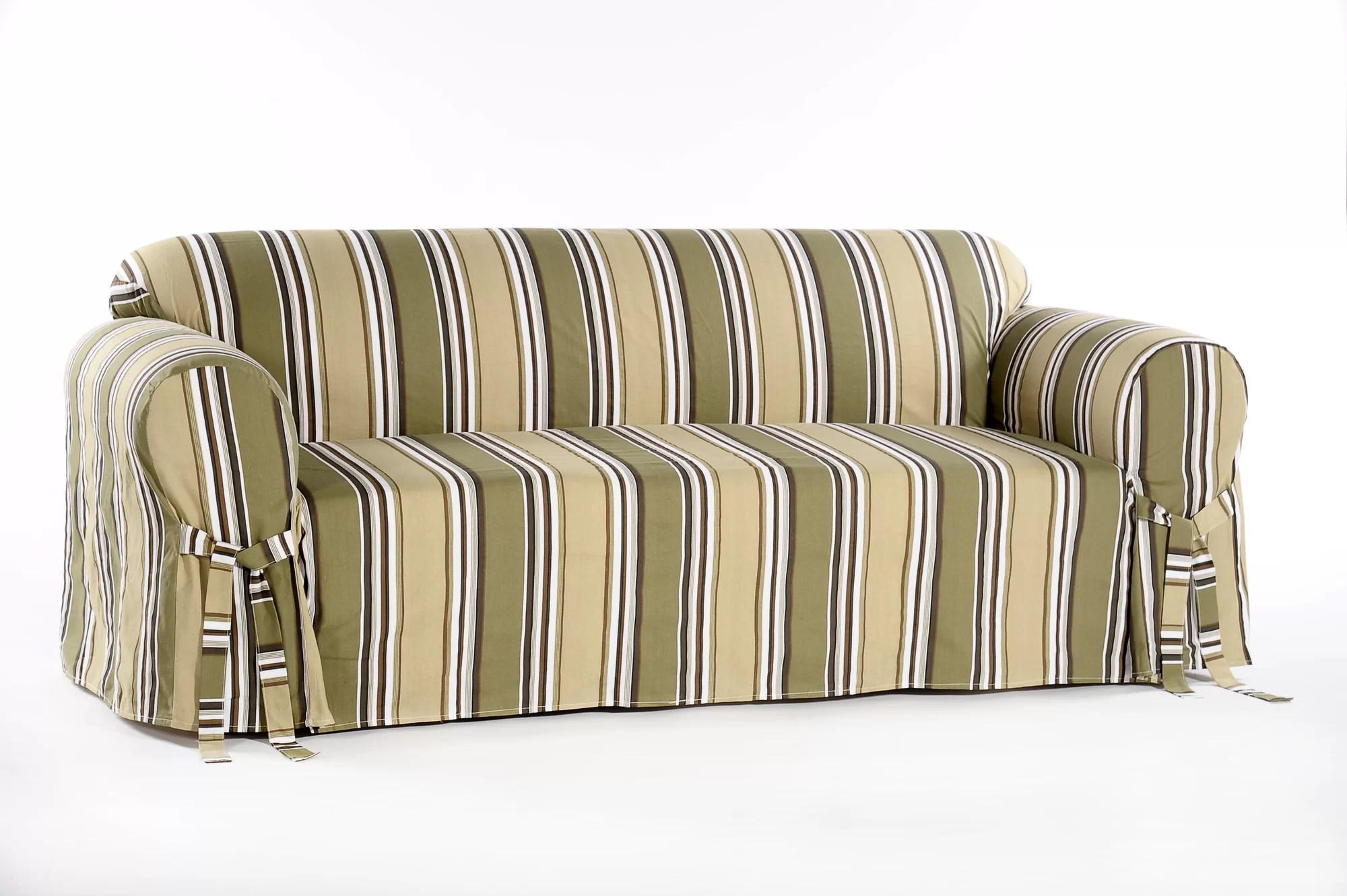 william sonoma chair covers revolving chairs online pakistan classic slipcovers stripe duck sofa slipcover ebay