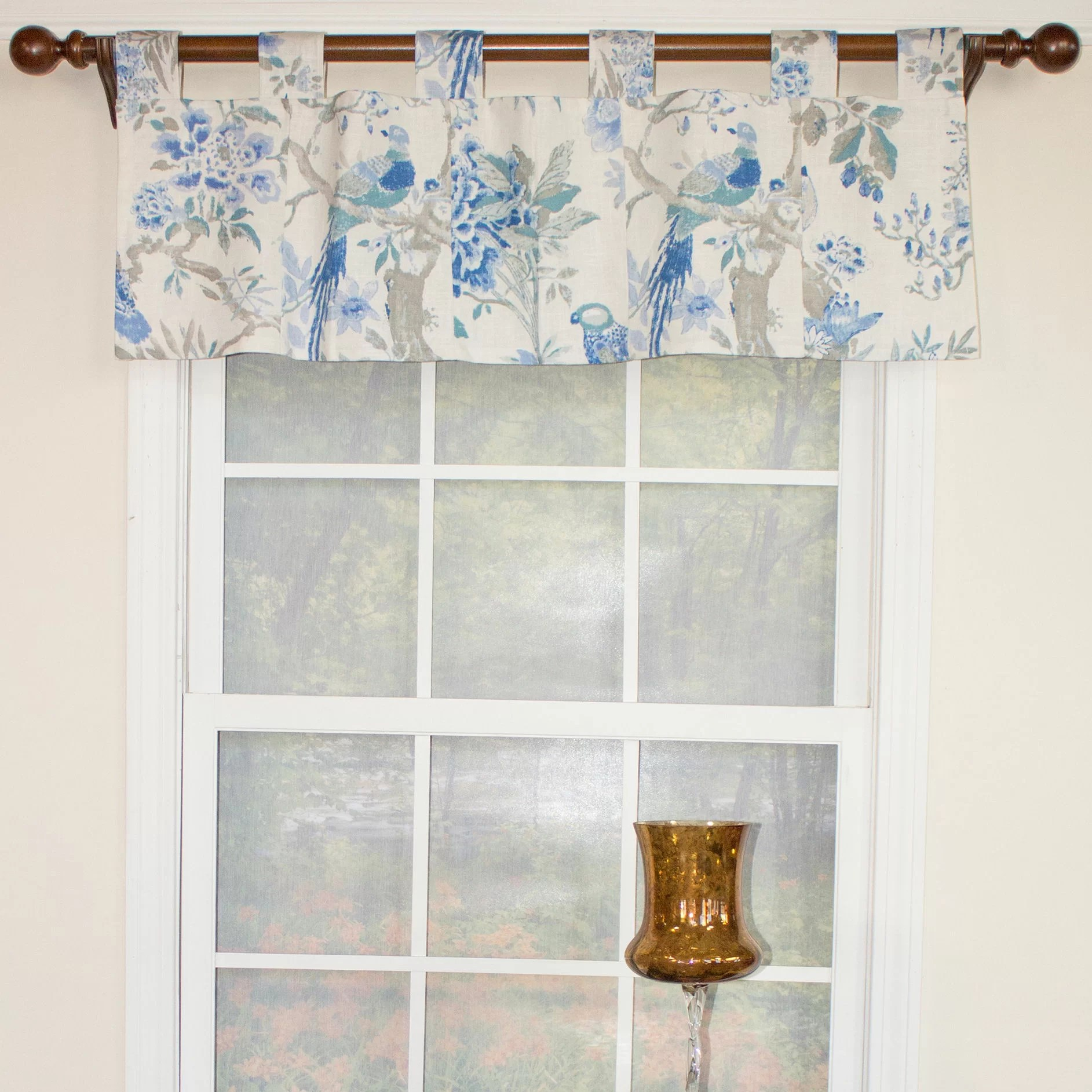 Rlf Home Arielle Patchwork Tab Curtain Valance