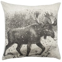 TheWatsonShop Moose Cotton Throw Pillow