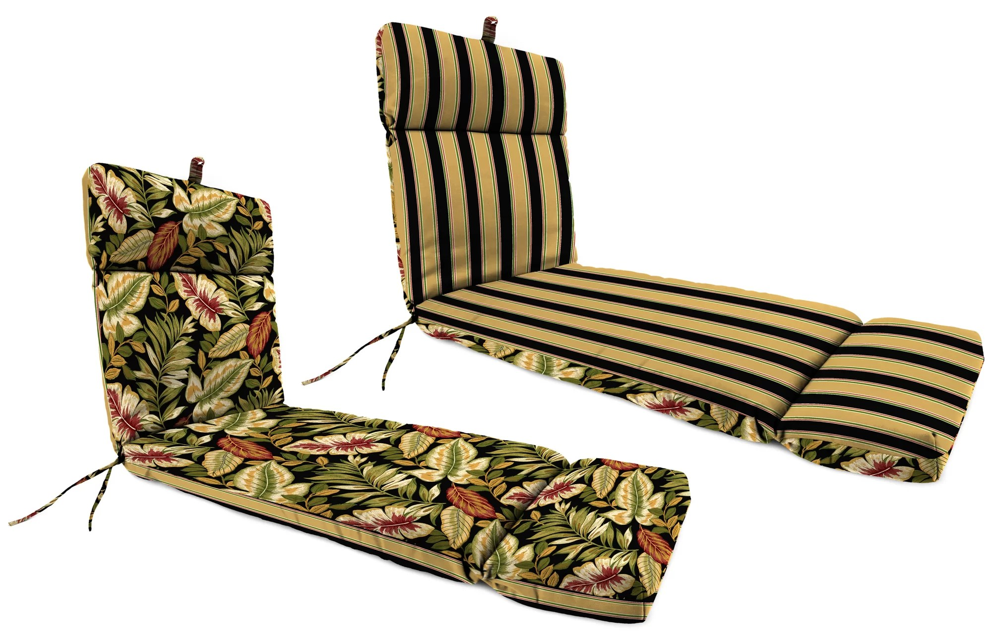 chair cushions with ties french country hairpin leg jordan manufacturing universal outdoor chaise lounge