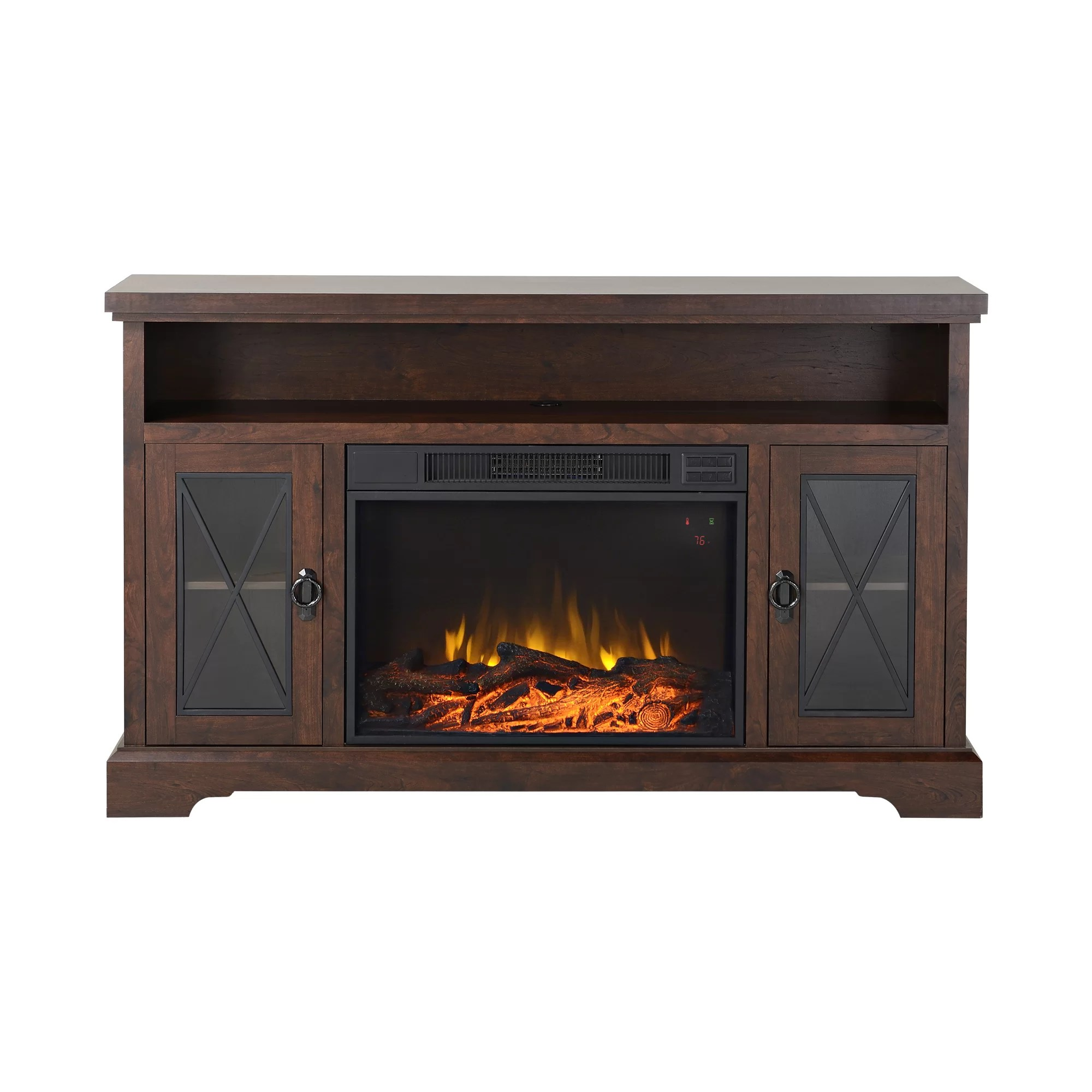 Homestar Padova TV Stand with Electric Fireplace  eBay