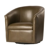 Comfort Pointe Draper Swivel Barrel Chair | eBay