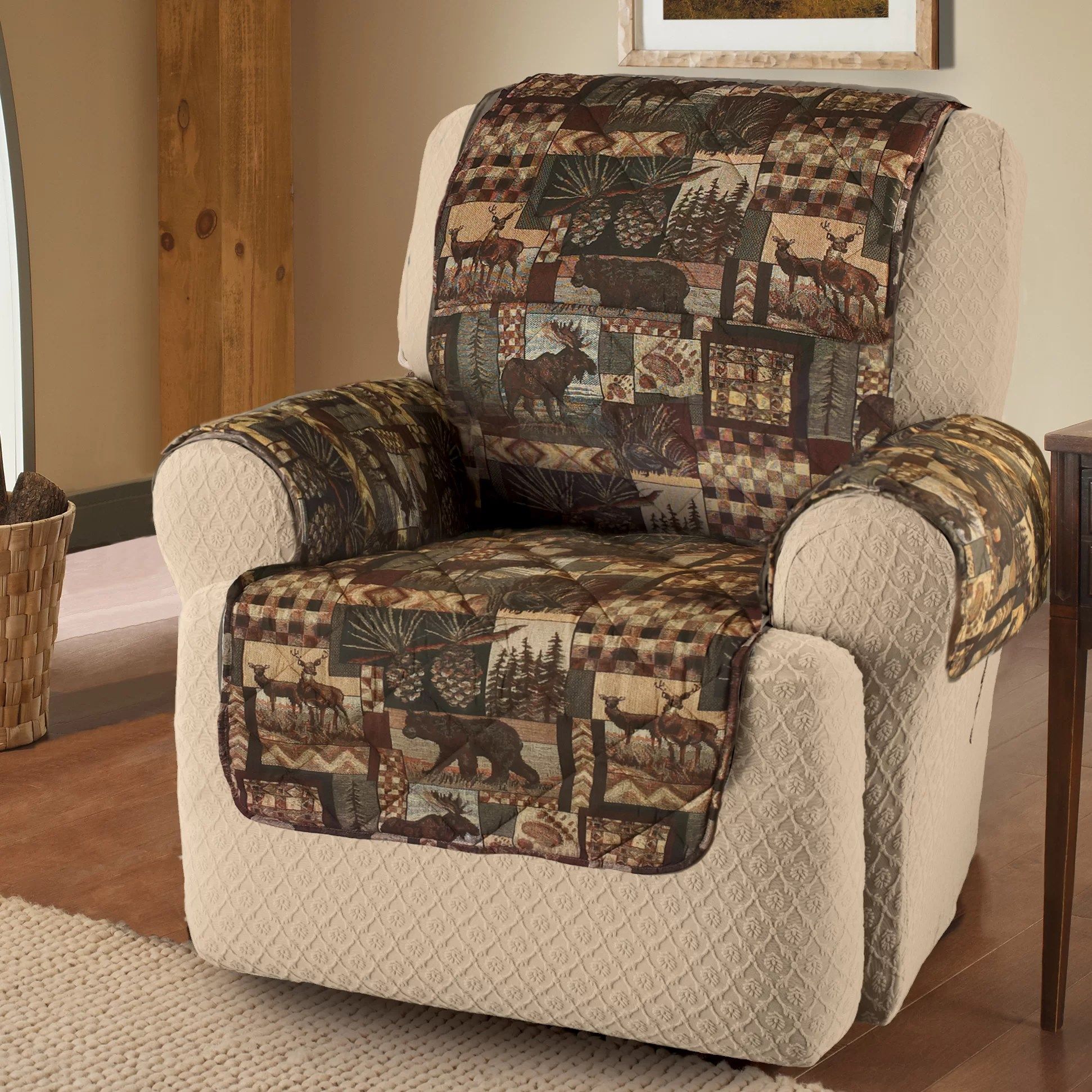 microfiber recliner chair covers chairs for the end of your bed innovative textile solutions lodge protector wing