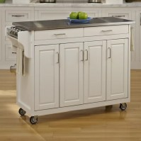 Home Styles Create-a-Cart Kitchen Island with Stainless ...