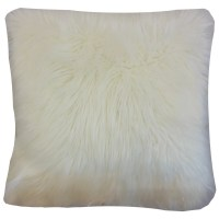 The Pillow Collection Valeska Faux Fur Throw Pillow Cover ...