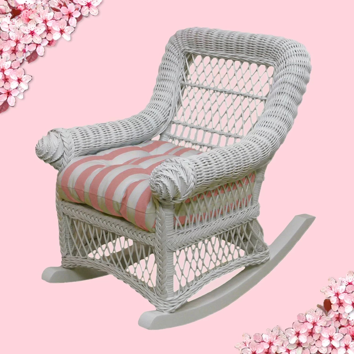 childs rattan chair covers canada for sale yesteryear wicker child 39s cotton rocking ebay
