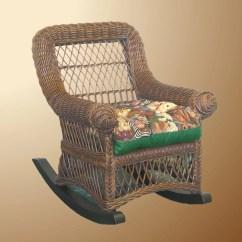 Childs Rattan Chair Vanity Cheap Yesteryear Wicker Child 39s Cotton Rocking Ebay