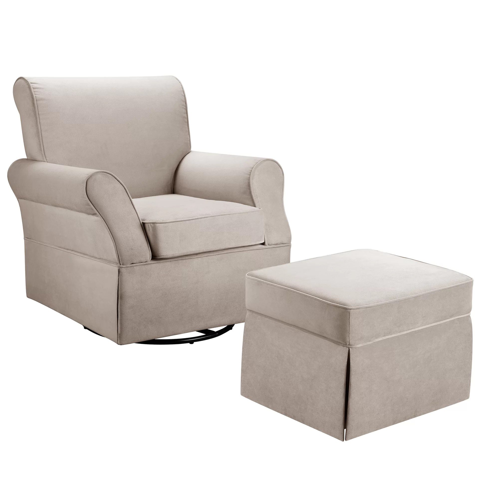 Glider Chair And Ottoman Dorel Living Kelcie Swivel Glider Chair And Ottoman Set Ebay