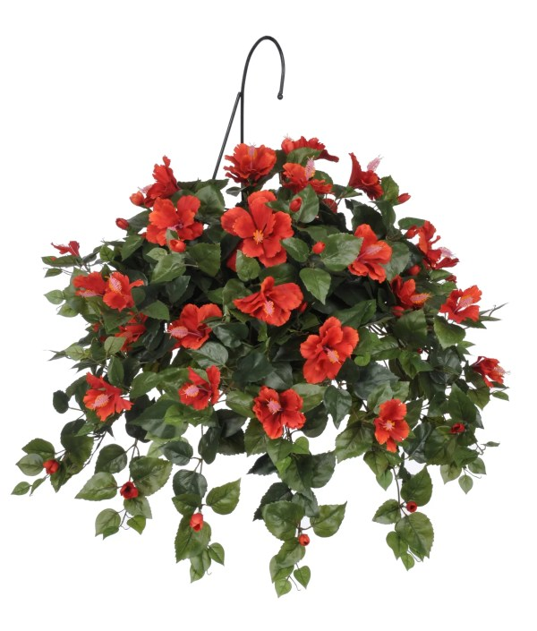 House Of Silk Flowers . Artificial Hibiscus Hanging