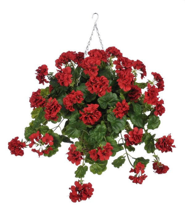 House Of Silk Flowers . Artificial Geranium Hanging